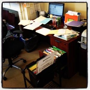 2013 03-25 Messy Desk at Work
