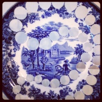 2013 04-21 MFA New Blue and White Repurposed Plate Detail