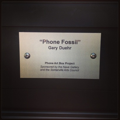 2013 09-17 Phone Fossil Plaque
