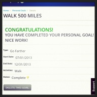 And I walked/ran/jogged/shuffled 500 miles since July 1st.