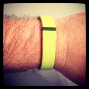 2014 02-03 Lime Green FitBit Band