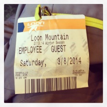 2014 03-08 Loon Mountain Ski Pass