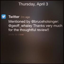 2014 04-03 Holsinger Tweets Me