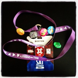 2014 04-12 - Pax East - Badge, Pins and Diversity Die