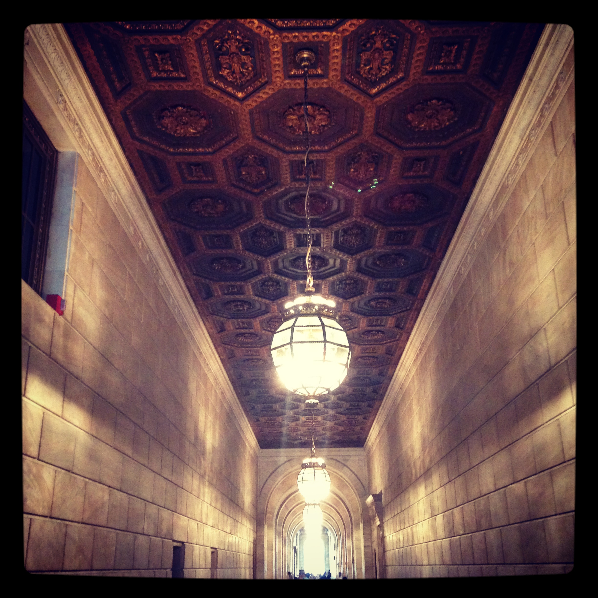 2014 06-13 NYPL Hallway Ceiling - The Oddness of Moving Things