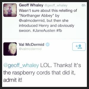 2015 02-06 Twitter Banter w: Val McDermid