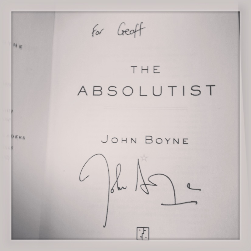 2015 03-09 Personalized Signed Edition of The Absolutist