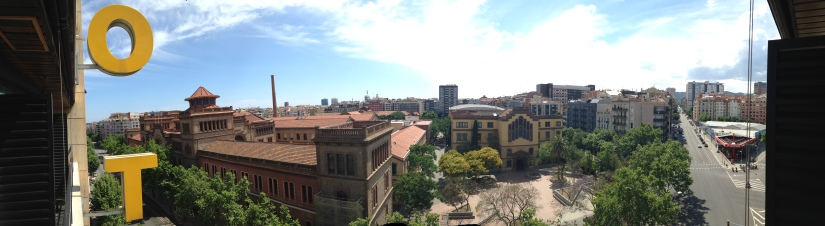 View from our Barcelona hotel mini-balcony.