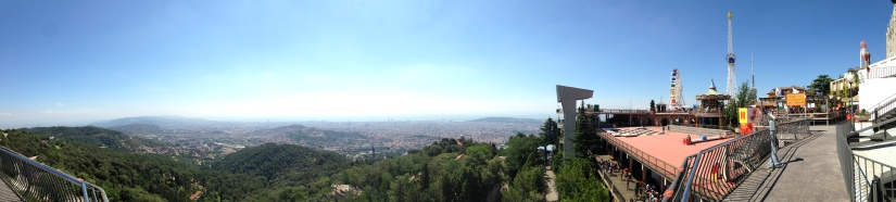View of Barcelona from the Tibidabo Amusement Park