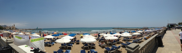 Beach view of Sitges, Spain