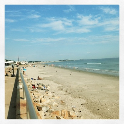 We also took a relaxing beach day at Natasket Beach in Hull, MA. This was when we got there.