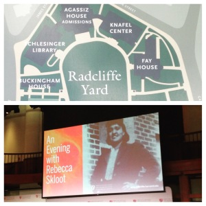 2015 09-29 Radcliffe College Skloot Event