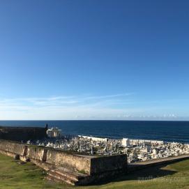 Graveyard at the fort in Old San Juan