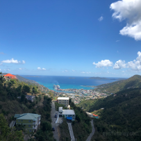 View of the cruise ships in Tortola
